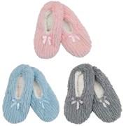 Ladies Slipper Socks With Bow (SK447)